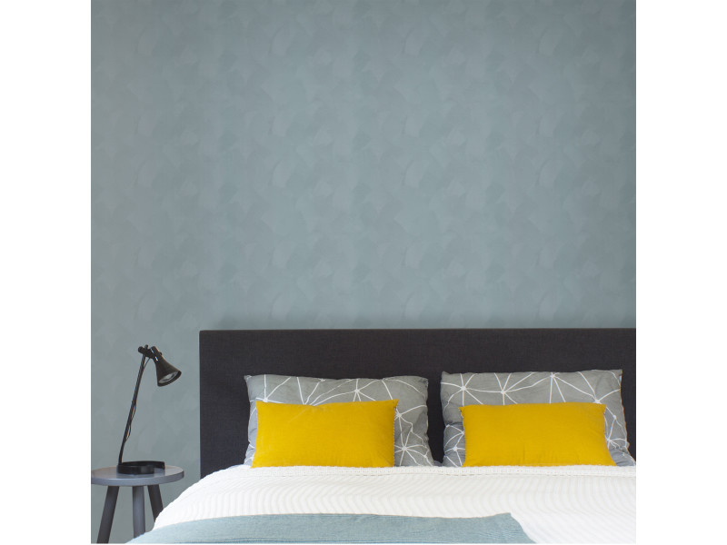 Papier peint intissé uni basic enduit 1005 x 52cm gris-bleu 5673506