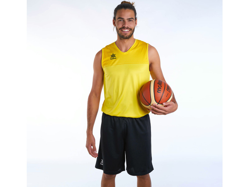 T-shirt de sport stylé taille xxs débardeur luanvi apolo jaune