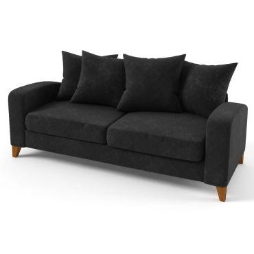 canap fixe tissu aztec 3 places noir vente de habitat et jardin conforama. Black Bedroom Furniture Sets. Home Design Ideas