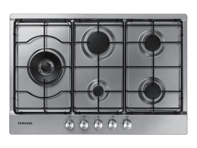 Samsung na75m3130as noir, acier inoxydable intégré (placement) gaz 5 zone(s)