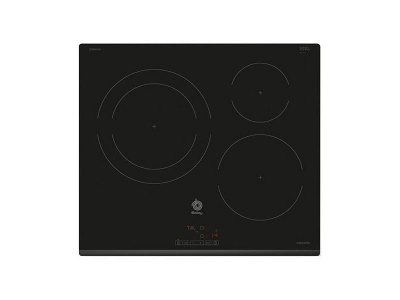 Plaque à induction à 3 zones de cuisson 60 cm noir - plaque de cuisson contrôles tactiles