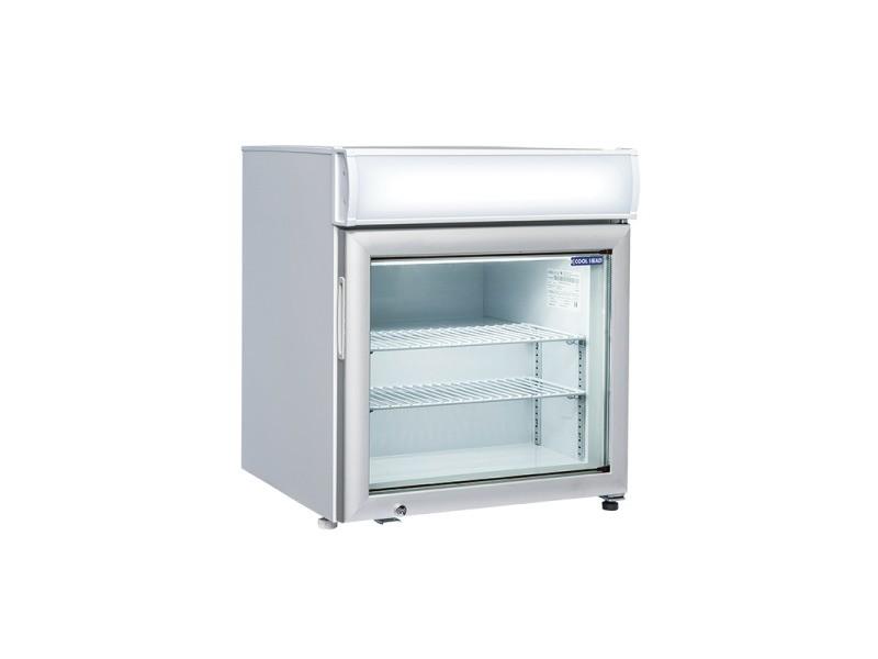 Mini armoire réfrigérée négative vitrée avec bandeau - 50 l - cool head - r290 1 porte vitrée