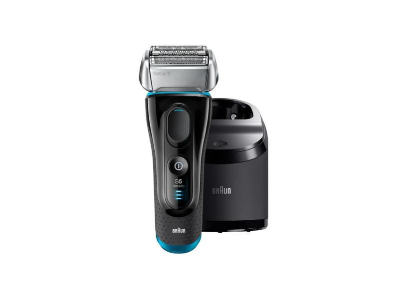 Braun series 5 5190cc rasoir electrique sans fil wet+dry - noir et bleu BRA4210201175483