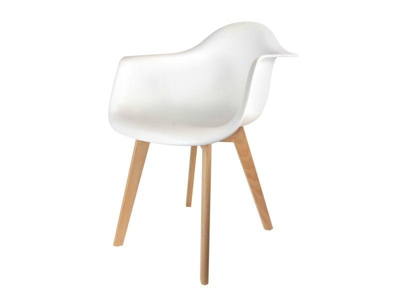 fauteuil scandinave enfant h 54 cm blanc vente de chaise conforama. Black Bedroom Furniture Sets. Home Design Ideas