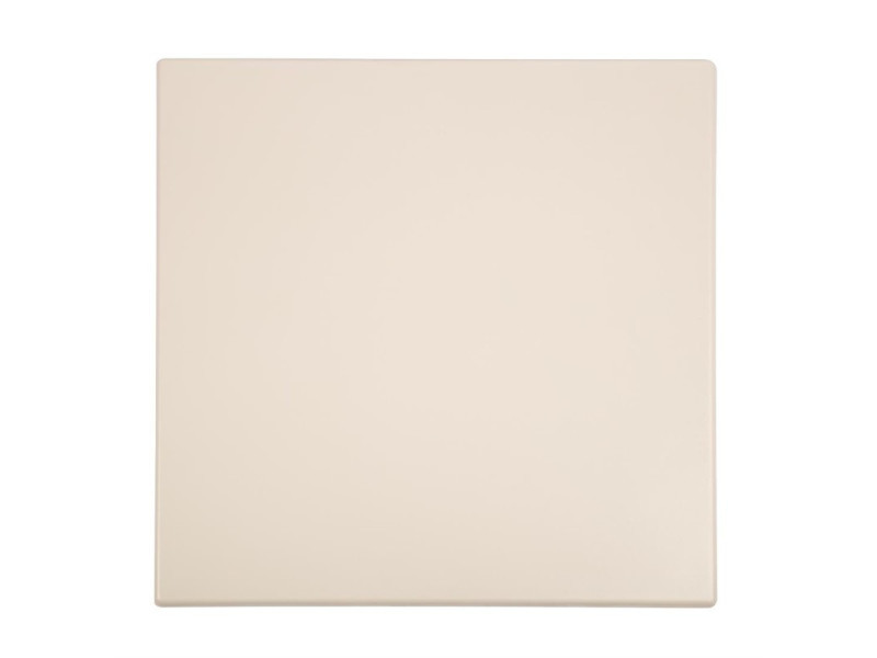 Plateau de table carré blanc 600 mm - bolero - bois