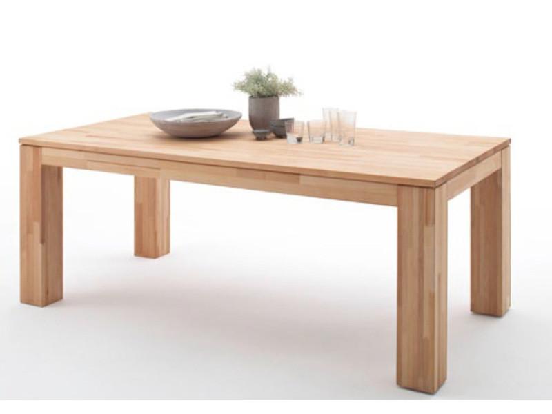 Table de salle à manger extensible en hêtre massif huilé - l.140-220 x h.77 x p.90 cm -pegane- PEGANE