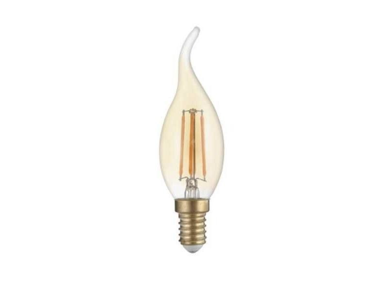 Ampoule e14 led flamme filament 4w t35 - blanc chaud 2300k - 3500k