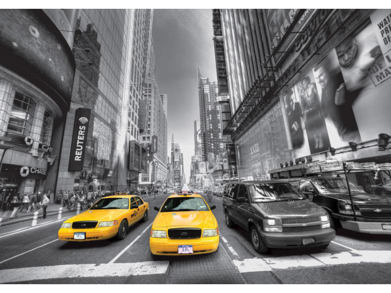 Yellow cab new york taxi, photo murale, 360x254 cm, 4 parts 423008