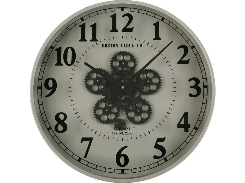 Horloge murale en métal engrenages 50 cm