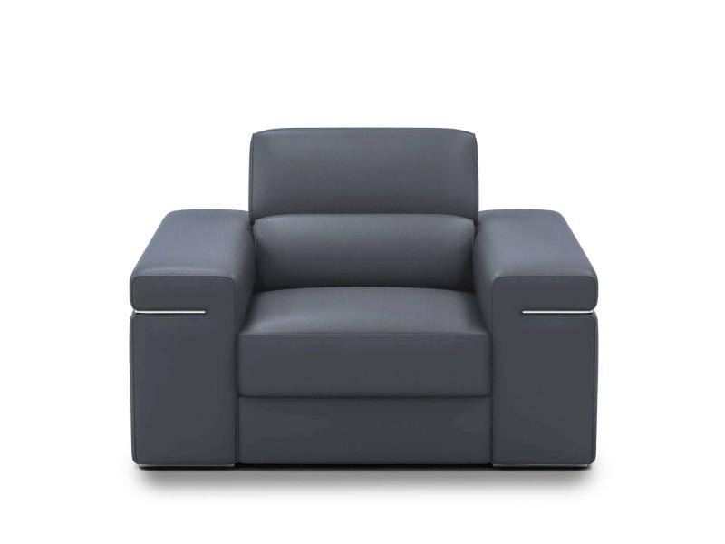 Billy - fauteuil design en cuir gris