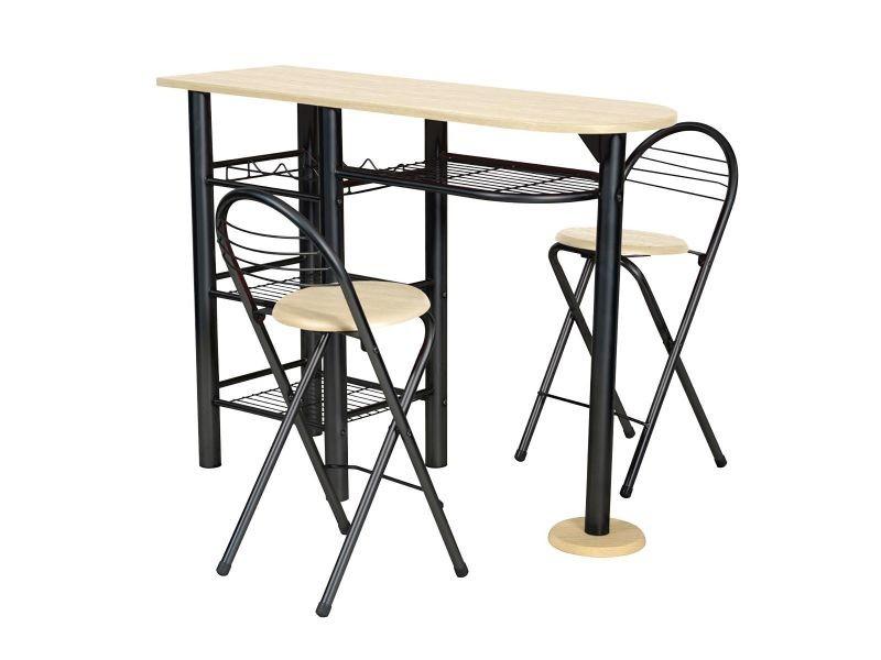 Table Et Ensemble Kitchen Chaises Haute2 Noir De Marron Vente tshdQxrC