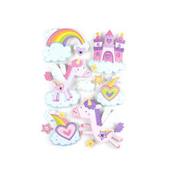 Sticker 3d rêve - 30 x 40 cm - poney