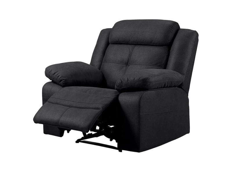 Fabares - fauteuil relax manuel tissu gris