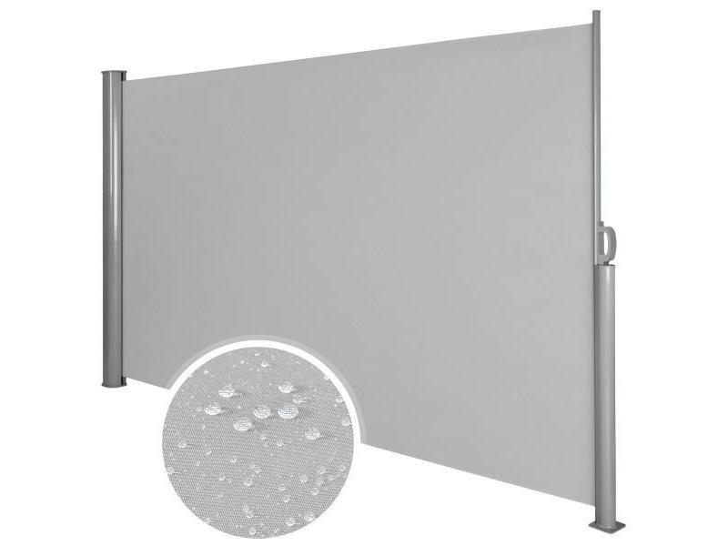 Auvent store latéral brise-vue abri soleil aluminium rétractable 180 x 300 cm gris helloshop26 2208016