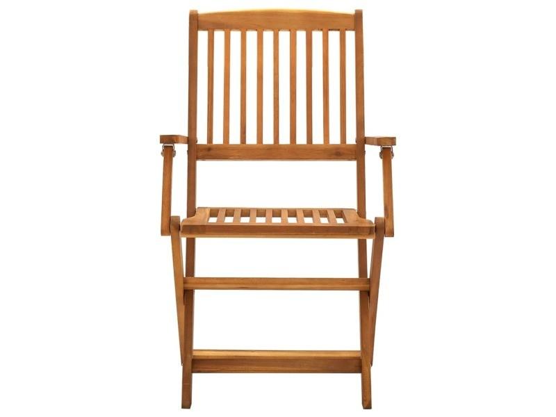 Vidaxl chaises pliables d'extérieur 2 pcs bois d'acacia solide 46337
