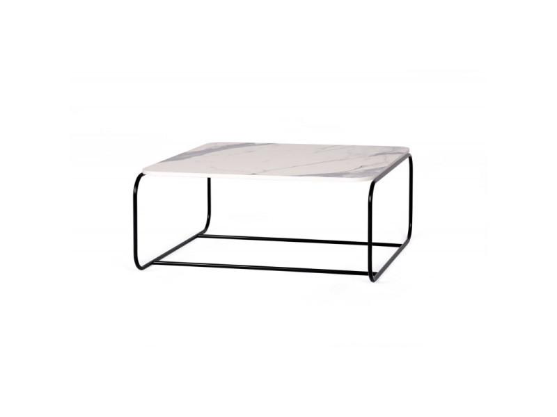 Table basse industrielle en métal hayley / coloris : blanc