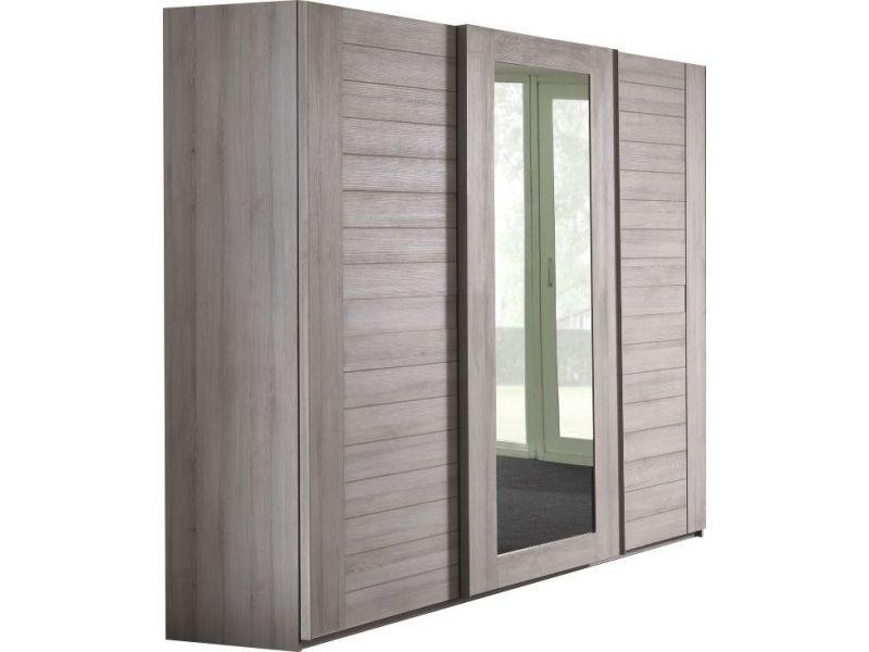 armoire 250x220 cm 3 portes coulissantes dont 1 avec. Black Bedroom Furniture Sets. Home Design Ideas