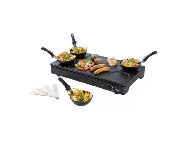 Set mini woks, crêpière et gril 1000w noir - do8712w do8712w