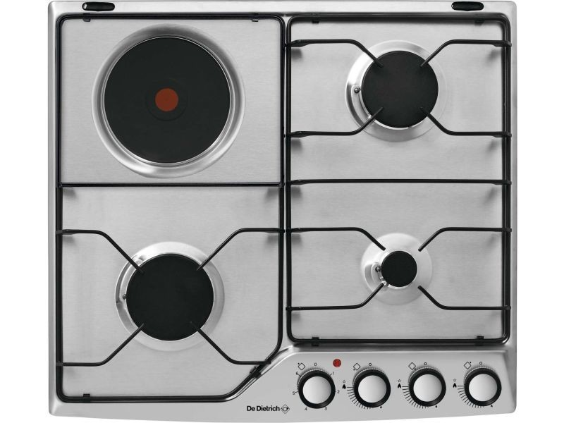 Table de cuisson mixte émail 4 feux inox - dpe7610xm dpe7610xm
