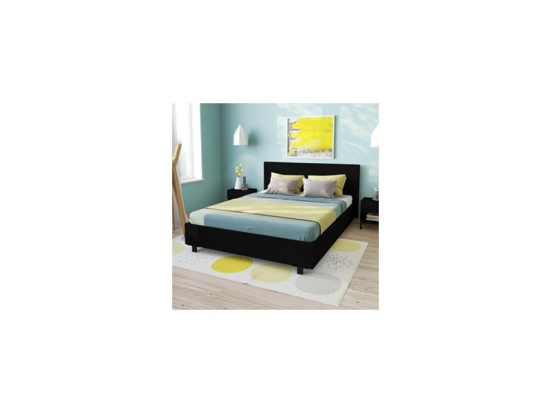 lit atlanta 140x200 1 sommier noir 035116z vente de lit adulte conforama. Black Bedroom Furniture Sets. Home Design Ideas