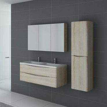Meuble de salle de bain double vasque trevise 1200 - Meuble vasque salle de bain conforama ...