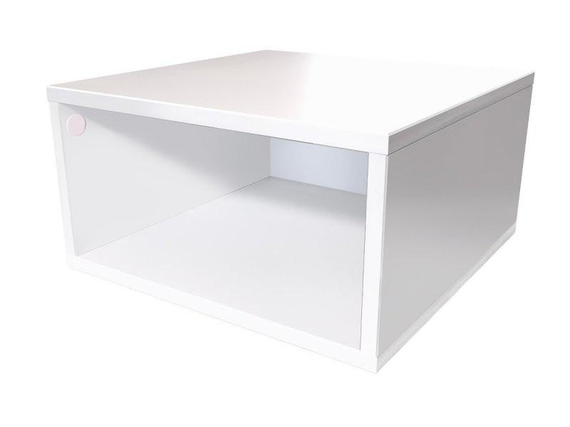 Cube De Rangement 50x50 Cm Bois 50x50 Blanc Cube50 Lb