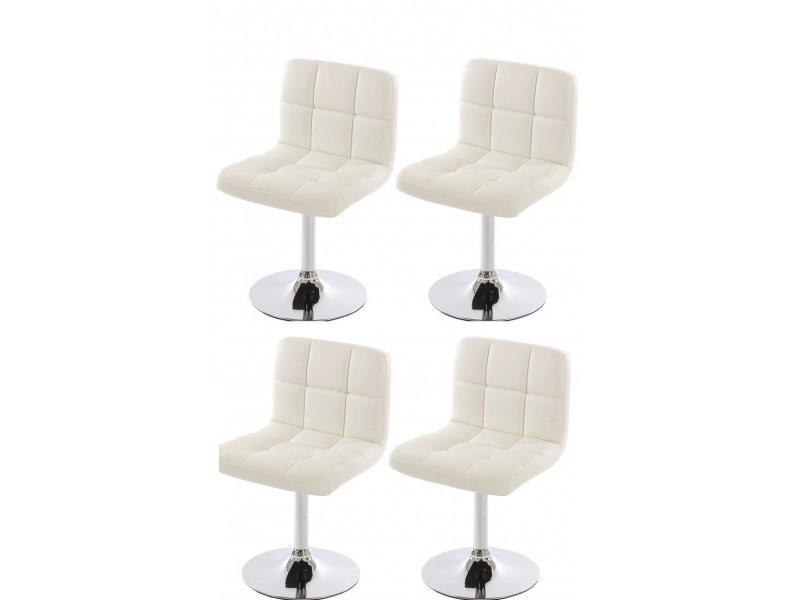 4 de salle fauteuils de simili manger chaises à Lot cuir en Pwn08Ok