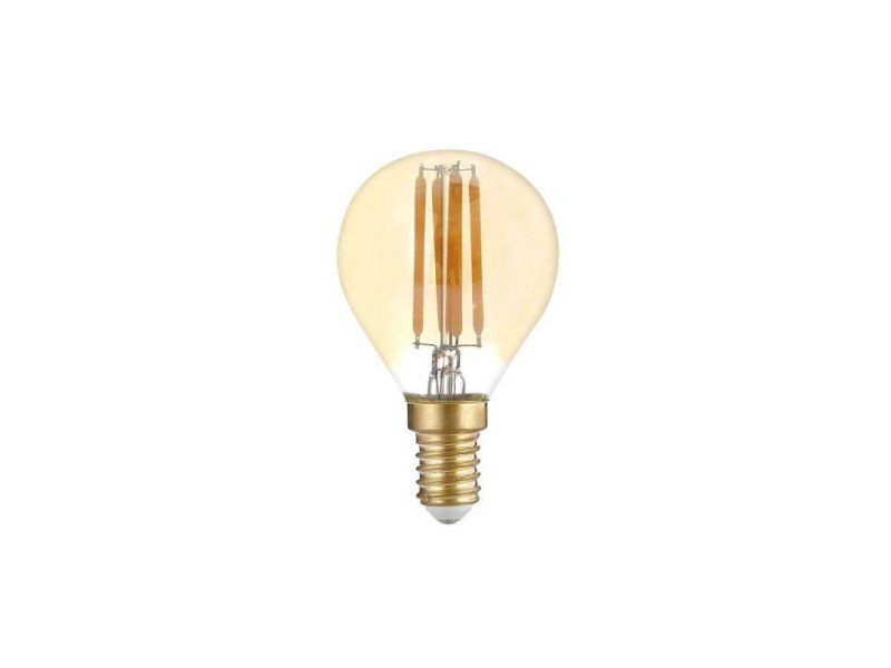 Ampoule led g45 filament 4w golden glass dimmable e14 blanc très chaud 2500k SP1418