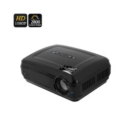 Projecteur video  lcd  1080p 2800 lumens  taille d'image de 200 pouces, distance de projection 6m, led 155w