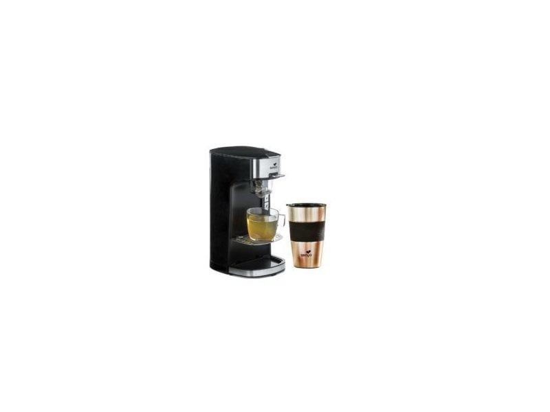 Senya machine à thé tea time, théière électrique noire et son tea mug isotherme double paroi