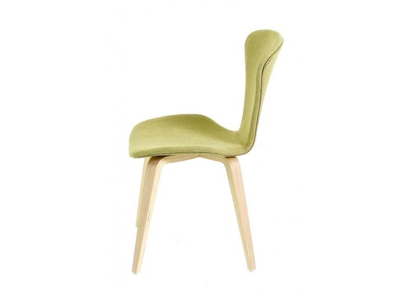 Chaise en tissu et piètement en bois manille - Vente de ID\'CLIK AfmKu