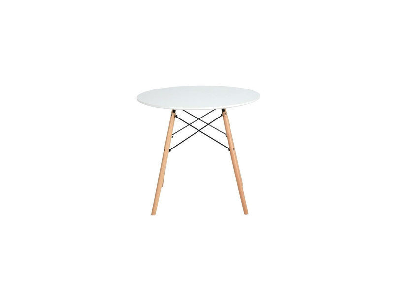 L 80 X L 80 Cm Funiture R Fance Maddie Table Ronde A Manger
