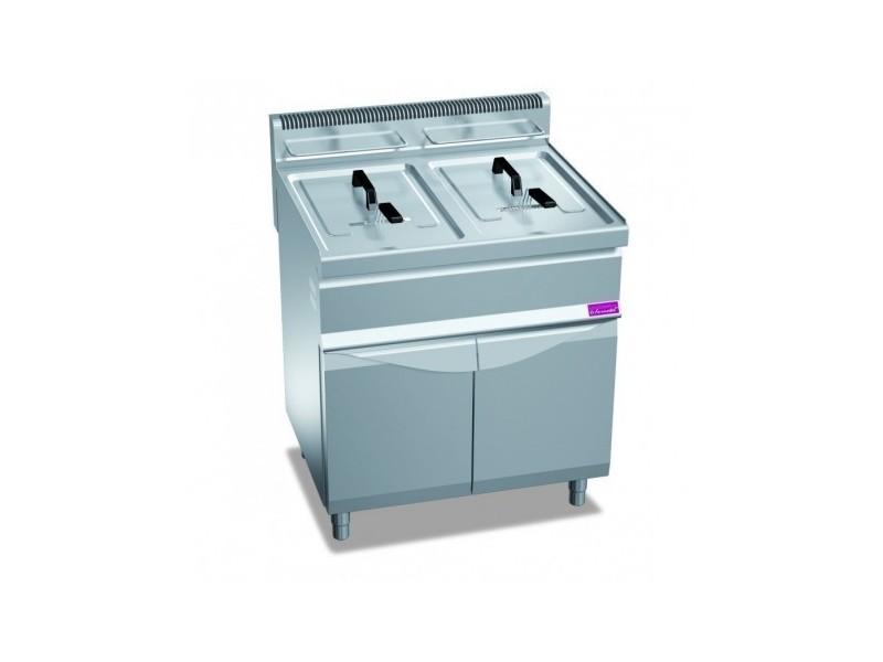 Friteuse gaz professionnelle sur coffre - 2 x 20 litres - 33 kw - furnotel -