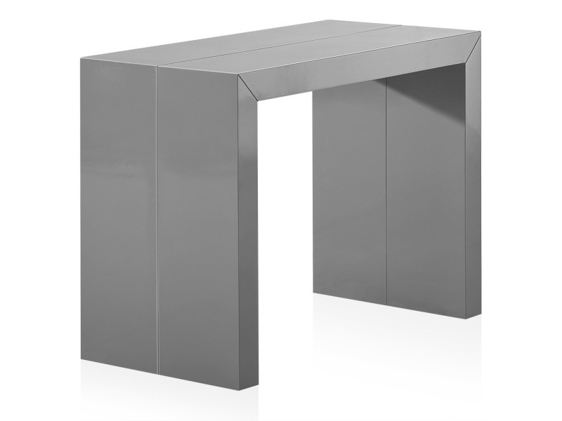 Table console nassau laquée gris conforama