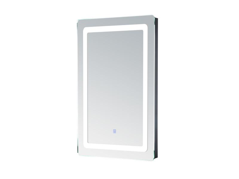 Miroir lumineux led de salle de bain 9 w dim 50 x 4 x 70 cm neuf 24 vente de homcom conforama for Miroir 50 x 90