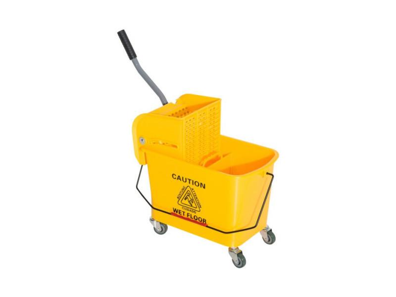 Seau essoreur pour nettoyage amovible jaune