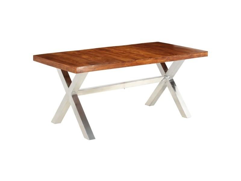 Admirable tables gamme port-d'espagne table de salle à manger bois et finition en sesham 180x90x76 cm