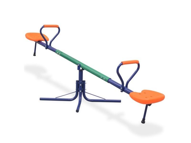 Vidaxl bascule rotative à 360 degrés orange 91363
