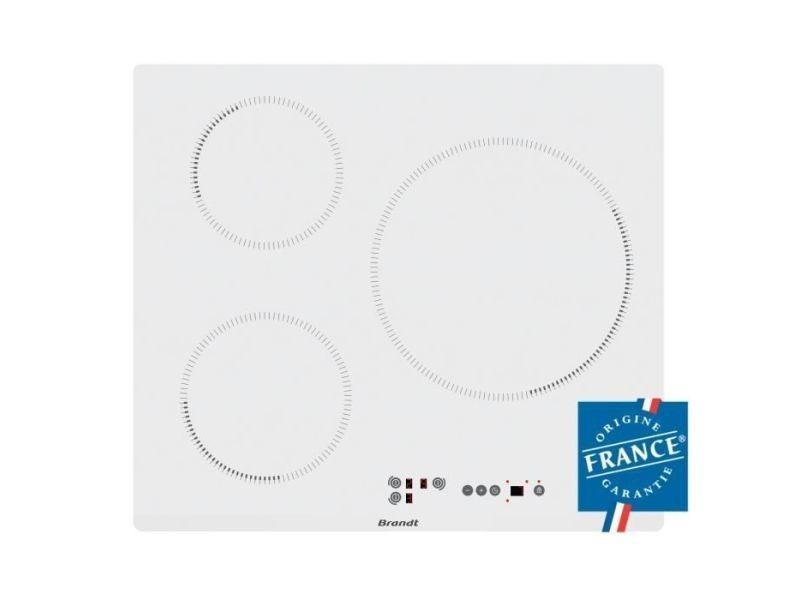 Brandt bpi6315w - table de cuisson-induction-3 zones-7200w-l58xp51cm-revetement verre-blanc BRABPI6315W