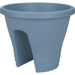 Pot de balcon corsica 30 cm bleu vintage - elho