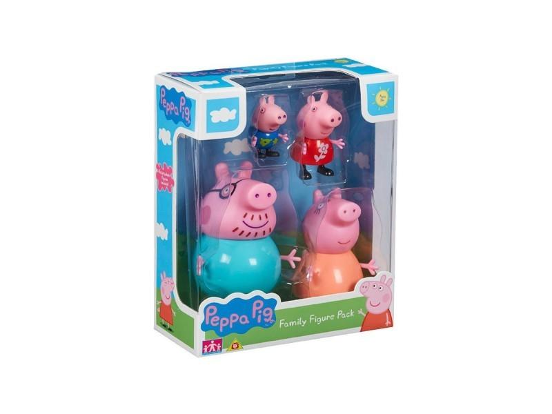 Bandai - peppa pig family figures pack 4