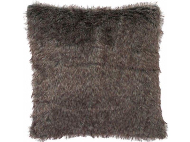 Coussin imitation fourrure gris bartle frere 68440