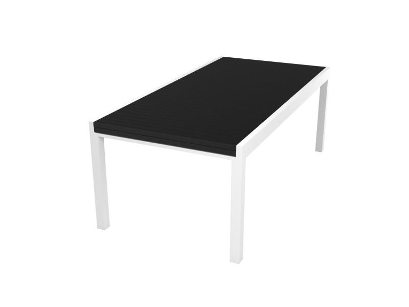 Table de jardin extensible 8 à 12 personnes en aluminium blanc - collection owen