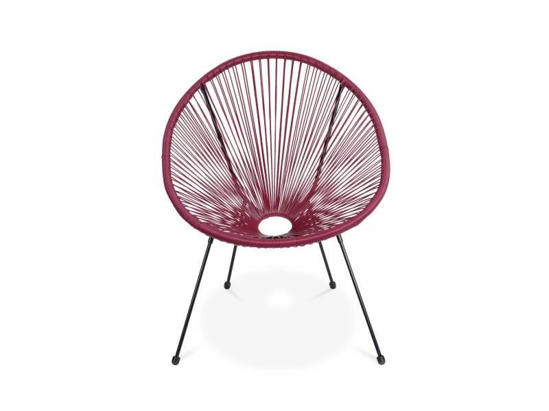 Fauteuil acapulco forme d'oeuf - bordeaux - fauteuil 4 ...