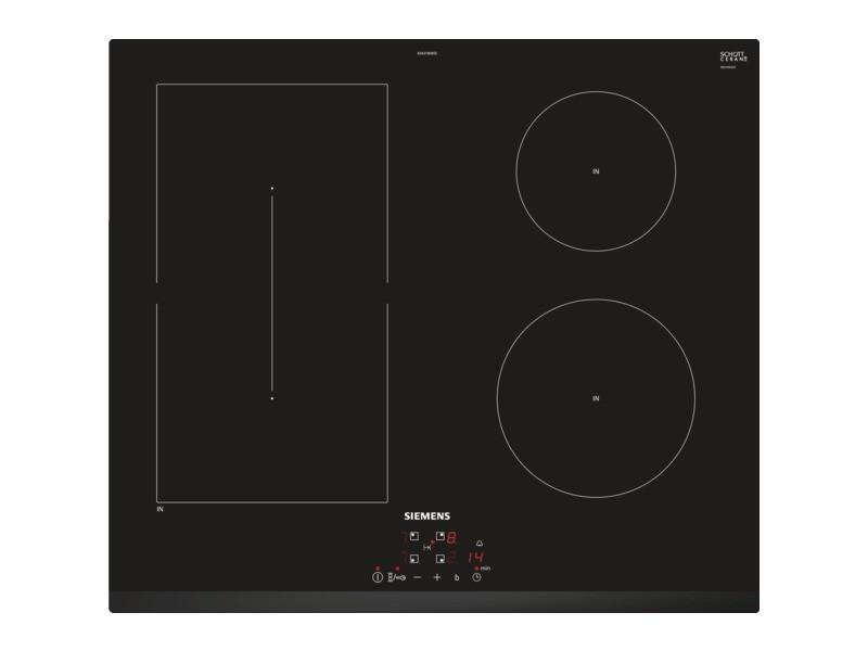 Table de cuisson à induction 60cm 4 foyers 6900w noir - ed631bsb5e ed631bsb5e