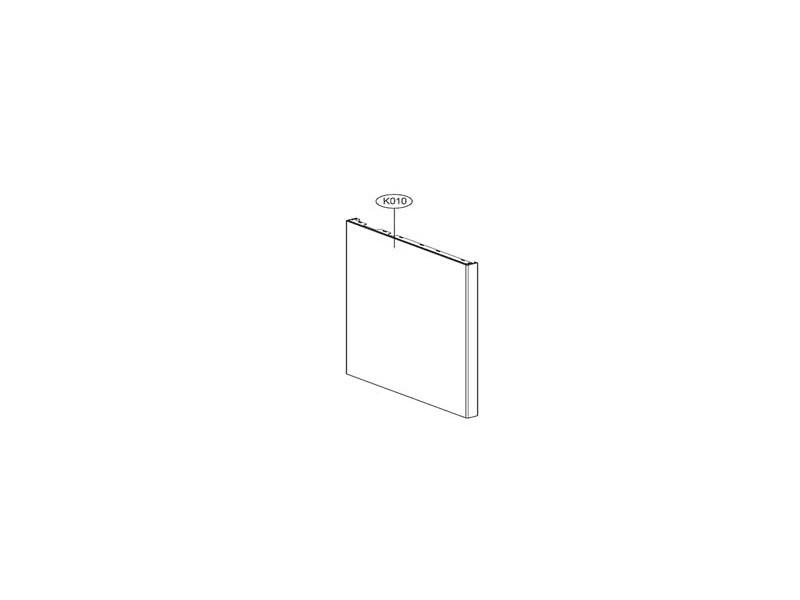 Facade de porte argent pour lave vaisselle lg - acq76172920