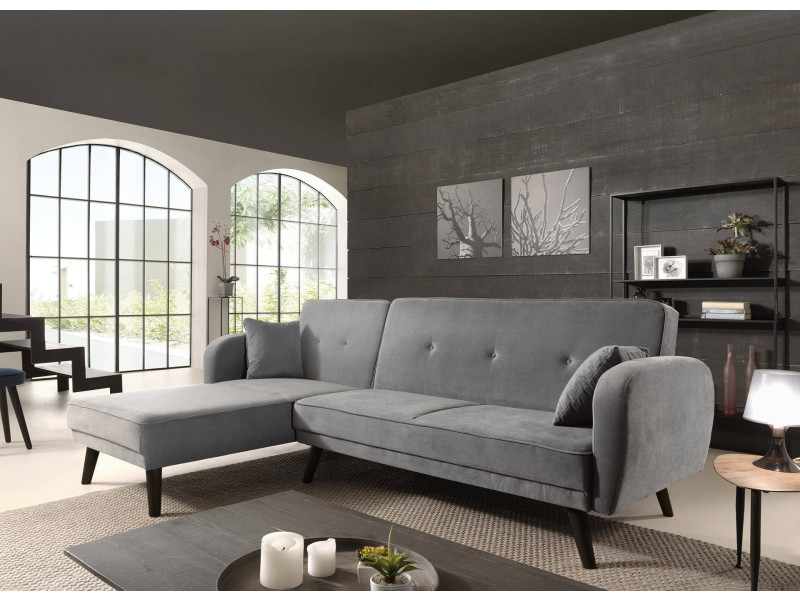 Olaf Canape D Angle Reversible Scandinave Convertible Revetement
