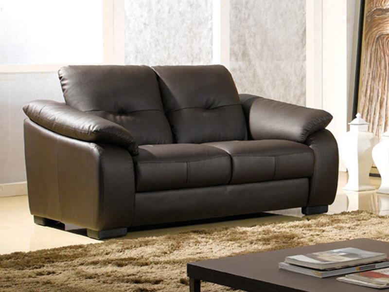 canap cuir 2 places lila vente de la maison du canap conforama. Black Bedroom Furniture Sets. Home Design Ideas