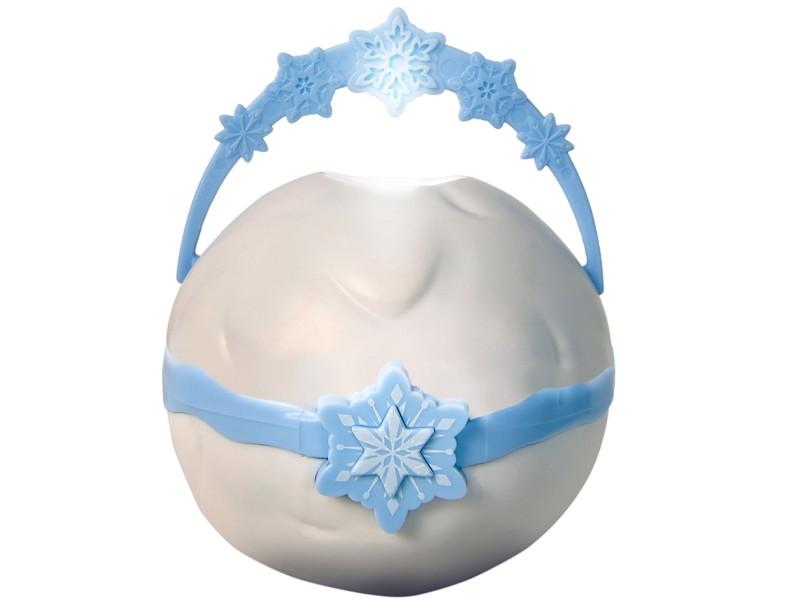 Veilleuse boule à neige pour enfant motif reine des neiges - l.8 x h.17 x p.8 cm -pegane-