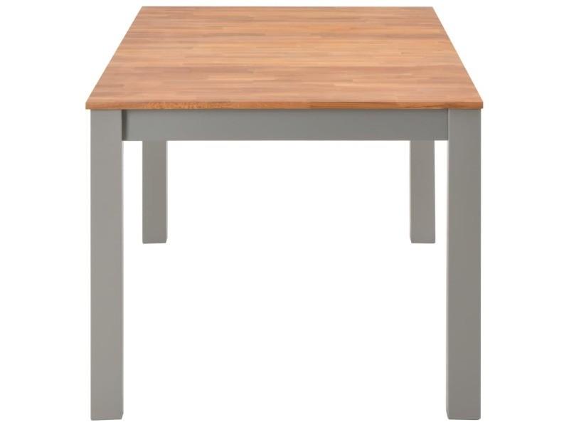 Vidaxl table de salle à manger 180x90x74 cm bois de chêne solide 247847